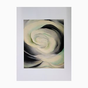 Pink White Abstraction Lithograph by Georgia O'Keeffe