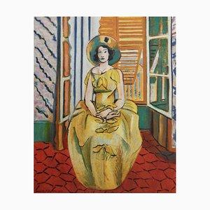 Litografia La Robe Tilleul di Henri Matisse, 1954