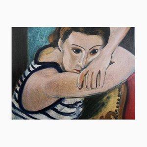 Blue Eyes Lithograph Reprint by Henri Matisse, 1954