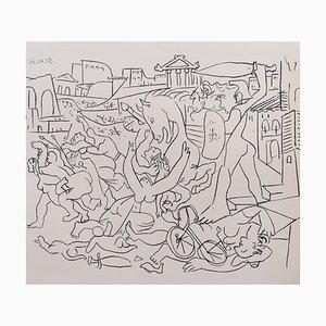 Litografia Jacqueline di Pablo Picasso