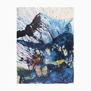 The Alps Lithograph by Salvador Dali