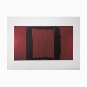 Seagram Murals, Red on Black Lithograph Reprint by Mark Rothko