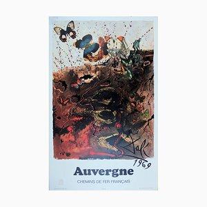 Auvergne Lithograph by Salvador Dali