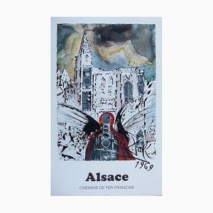 Alsace Strasburg Lithograph by Salvador Dali