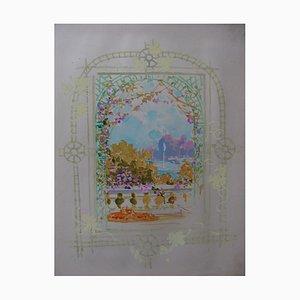 The Flower Window Gouache by Robert Pichon