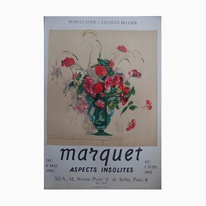 Bouquet Rouge et Vert Lithograph Poster by Albert Marquet, 1962