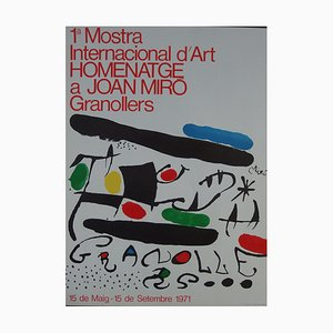 Mostra Granollers Lithograph by Joan Miro, 1971