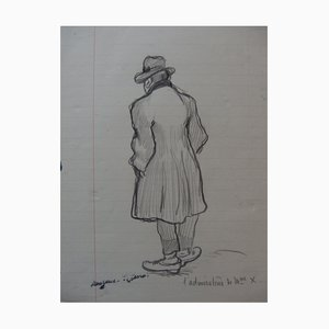 L'Admirateur de Madame X Drawing by Georges Manzana-Pissarro