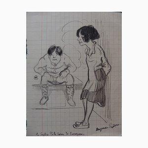Le Suplice de la Soeur de Cucugnan Drawing by Georges Manzana-Pissarro
