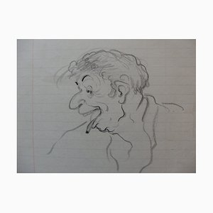 Tête d'un Fou Drawing by Georges Manzana-Pissarro