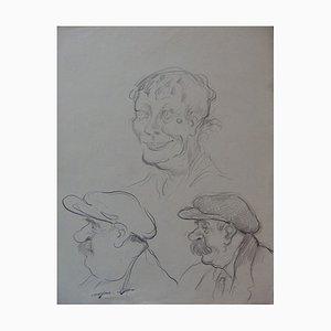 Disegno Three Faces di Georges Manzana-Pissarro