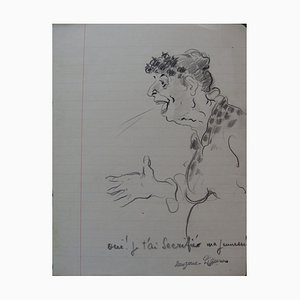 Une Confession Drawing by Georges Manzana-Pissarro