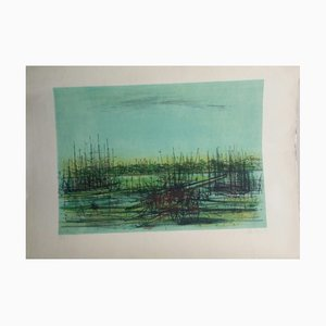 Le Port ou le Rivage Lithograph by Jean Carzou
