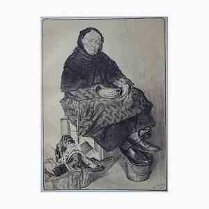 Marchande de Lacets Lithograph by Louis Malteste