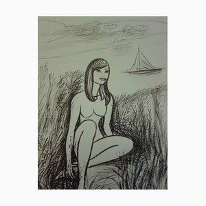 Sirène Lithograph by Louis Touchagues