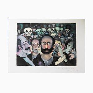 The Sad Crowd Lithographie von Marcel Marceau