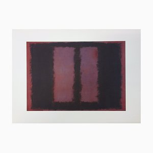 Seagram Murals, Black on Maroon Lithograph Reprint by Mark Rothko
