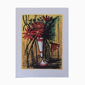 Bernard BUFFET - Bouquet in a mug, Original Lithograph