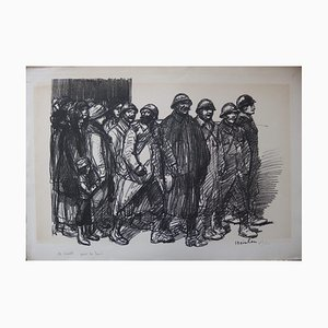Litografia See you soon for the Right di Théophile Alexandre Steinlen