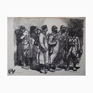Departure for War Lithograph by Théophile Alexandre Steinlen