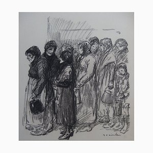 The Soup Lithograph by Théophile Alexandre Steinlen