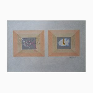 L'Air et le Feu Lithograph by Jacques Villon
