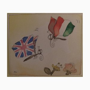 Papillons Patriotes Watercolor by Fernando Puig Rosado