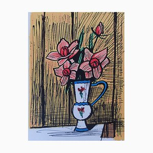 Small Bouquet of Camellias Print by Bernard Buffet