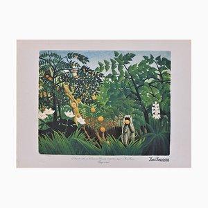 Paysage Exotique Lithograph Reprint by Henri Rousseau