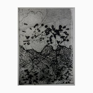 Lonely Tree Etching by Julius Baltazar