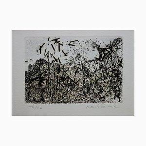 Julius BALTAZAR - Paysage à la japonaise, Gravure originale signée