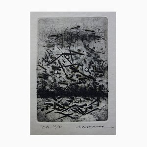 Ruffled Landscape Etching by Julius Baltazar