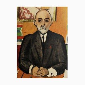 Homme à la Cravate Noire Lithograph Reprint by Henri Matisse, 1954