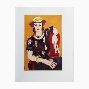 Femme à la Chaise Rouge Lithograph Reprint by Henri Matisse, 1954