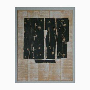 PIETRO CONSAGRA - Original woodcut - 1959