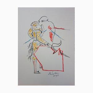 Tauromachie Lithograph by Jean Cocteau, 1965