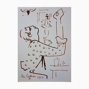 Lithographie The Prayer par Jean Cocteau, 1965