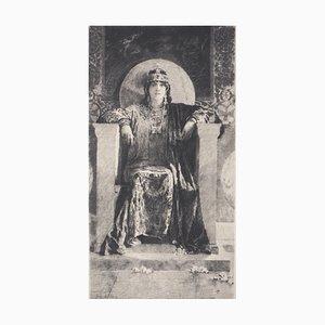 Litografia Théodora Chypre di Benjamin Constant