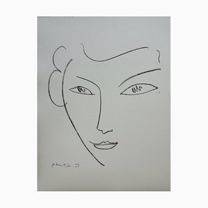 Henri MATISSE (after) : smiling face - Signed lithograph