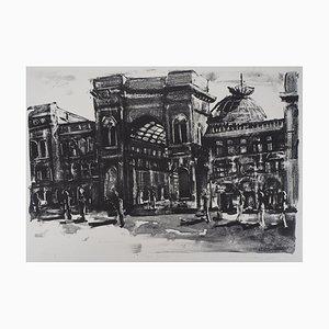 Jeroen HERMKENS : Milano, Galleria - Lithographie Originale Signée