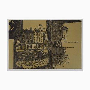 Pascale HÉMERY : Dublin - Linogravure Originale Signée