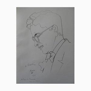 Jean COCTEAU (after) - Portrait of Charlie Chaplin, Lithograph