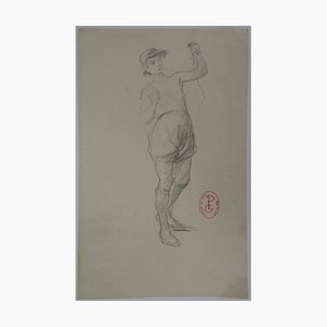 Jeune Homme au Chapeau Drawing by Georges Picard