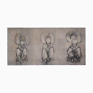 Les Trois Figures Radierung von Patrick Rocard