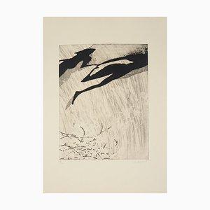YUK : Composition noire et blanche - Gravure originale signée