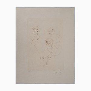 Le Jeu Mesquin des Sœurs Engraving by Léonor Fini
