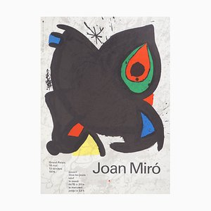The Red Eye Lithographic Poster by Joan Miró