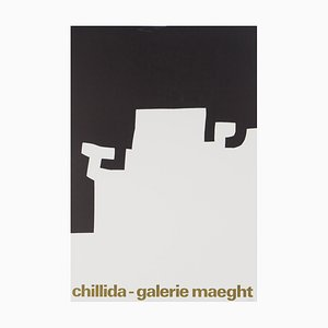Eduardo CHILLIDA : Black and white abstraction - Vintage lithographic poster