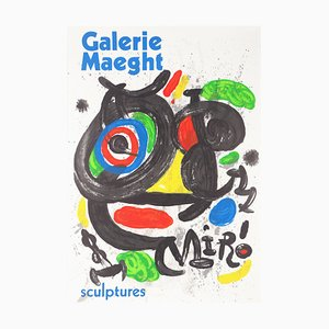 Sculptures Lithographic Poster by Joan Miró