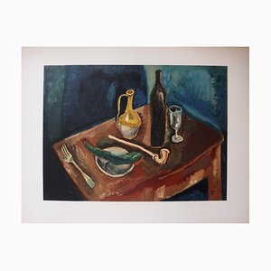 Chaïm SOUTINE - Still life with pipe, signed lithograph